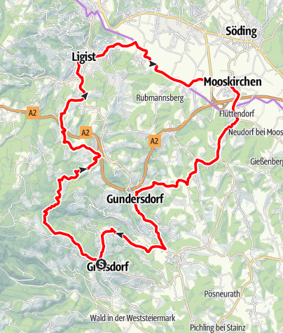 Karte / Schilcher Tour Nord Variante 2