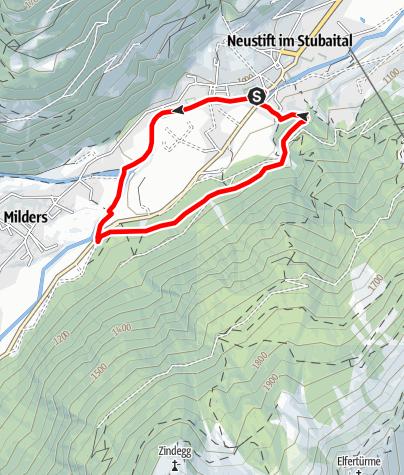 Map / Franz-Senn-Lauf