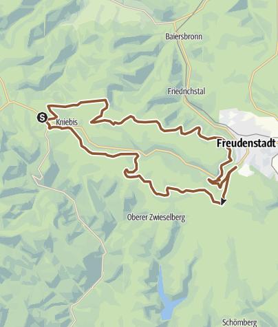 Karte / Freudenstadt: Finkenbergtour