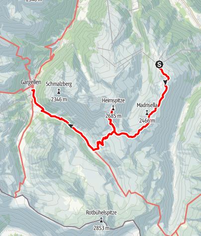Map / Gargellen – Heimspitze