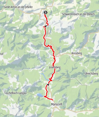 Mapa / Mariazellerbahn - Strecke
