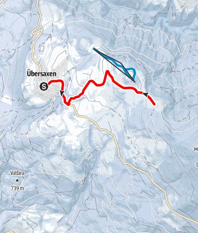 Karte / Am Übersaxner Gulm - Ein Alpweg für Wintergenießer