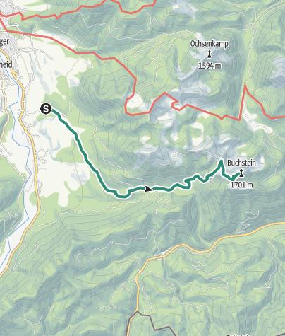 Karte / Lenggries - Roß-und Buchstein