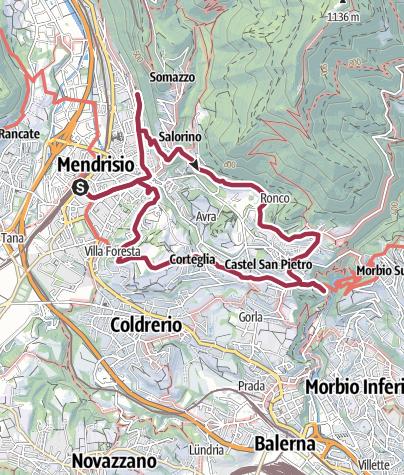 Map / Auf dem Weinweg nach Castel San Pietro