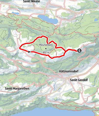 Karte / Zwergohreulenwanderweg Plöschenberg
