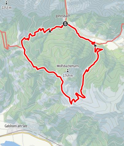 Karte / Johnsbacher Höhenweg