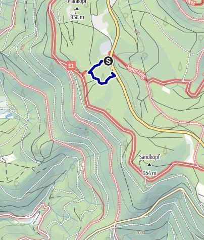 Karte / Erlebnispfad 8 - Lotharpfad