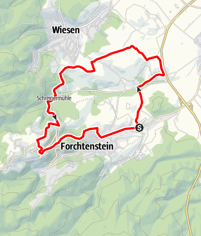 Karte / Burg Forchtenstein-Strecke