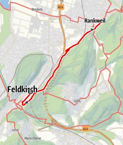 Karte / Der Feldkircher Pilgerweg nach Rankweil