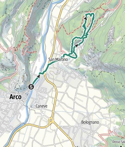 Karte / Der Bosco Caproni und die Schützengräben von Vastrè
