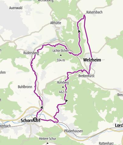 Karte / Welzheim - Wieslauftal-Radweg