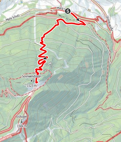 Karte / Wanderung zur Pollereshütte (von Maria Schutz)