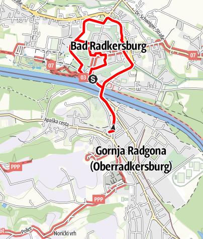 Karte / Lithopunkturweg