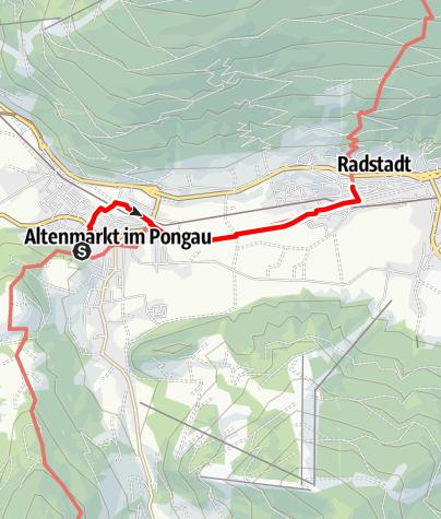 Karte / Wanderweg nach Radstadt