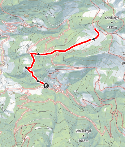 Map / Grossarl: Muggenfelalm - Maurachalm