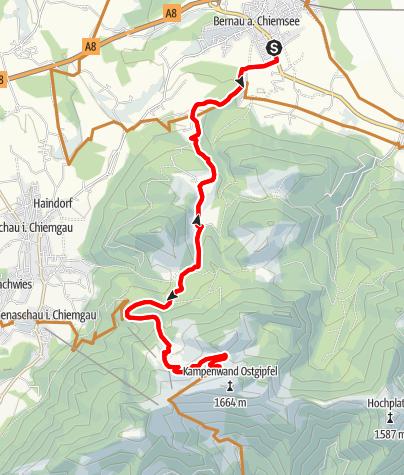 Karte / Kampenwand Mountainbiketour