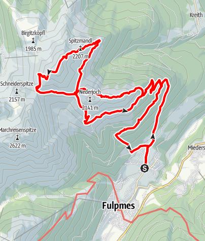 Karte / Telfes - Jochkreuz