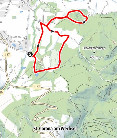 Map / Laufstrecke Kirchberg