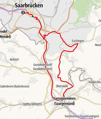 Karte / Saargemünder Runde