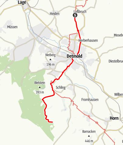 Kaart / Cheruskerweg