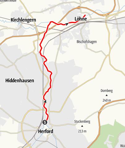 Karte / Kanutour auf der Werre: Durchs Ravensberger Hügelland von Herford nach Löhne