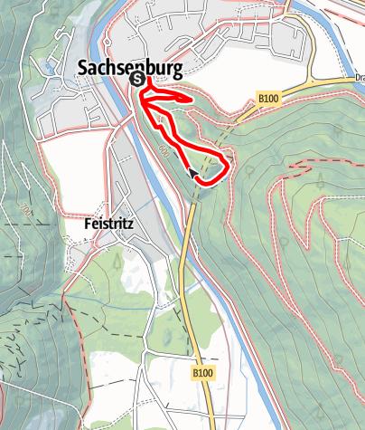 Karte / Burgenwanderweg / Naturlehrpfad
