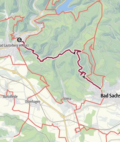 Karte / Harzer BaudenSteig 4: Von Bad Lauterberg nach Bad Sachsa