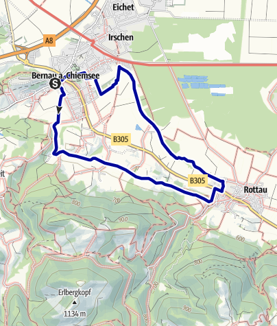 Karte / Bernauer Ache