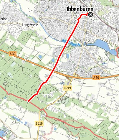 Karte / Zugangsweg Hermannshöhen: Ibbenbüren