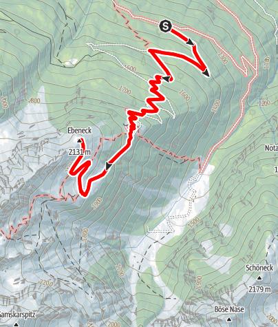 Karte / Polinikhütte - Ebeneck