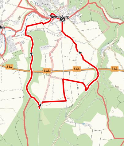 Karte / Wandern in und um Wewelsburg im Bürener Land