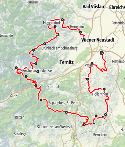 Map / On the move in the Viennese Alpenbogen