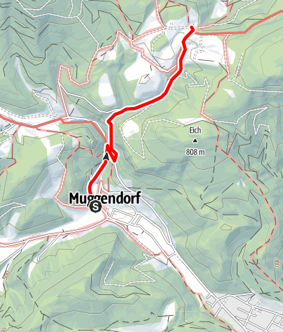Map / Wanderung zum Gasthaus Jagasitz (von Muggendorf)