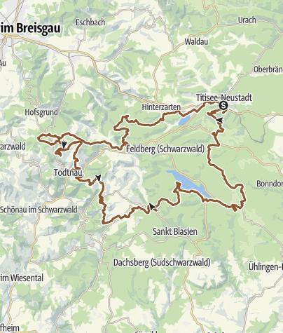 Karte / Gipfeltrail Hochschwarzwald