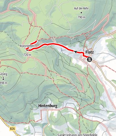 Mapa / Wanderung zum Neunkirchner Haus (von Flatz)