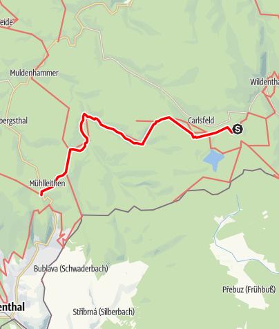 """Karte / Kammweg Etappe 12 """"Von Weitersglashuette nach Muehlleithen"""""""