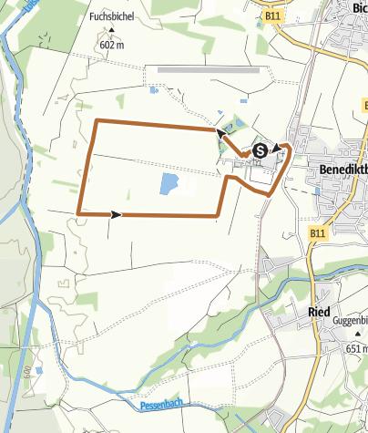 Karte / Kleine Benediktbeurer Moosrunde (Moosrundweg 2)