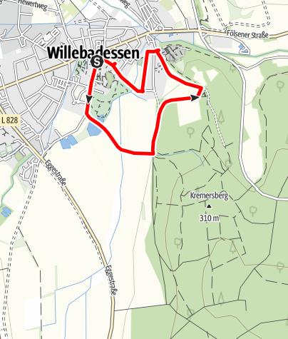 Karte / Aktiv-Park im Eggegebirge, Route 2
