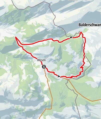 Karte / Sibratsgfäll | Vorderwald-Runde