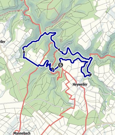 Karte / Traumschleife Baybachklamm