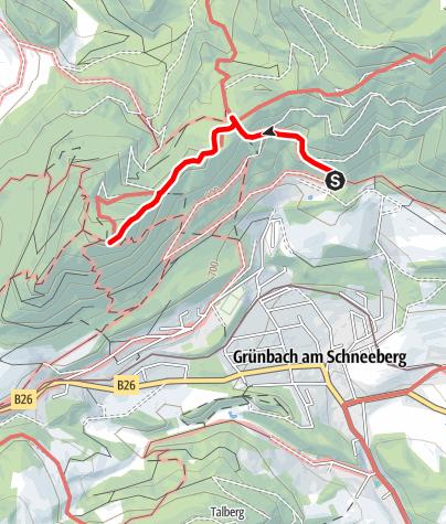 Map / Wanderung über Scheimhitt'n zur Geländehütte (von Grünbach)
