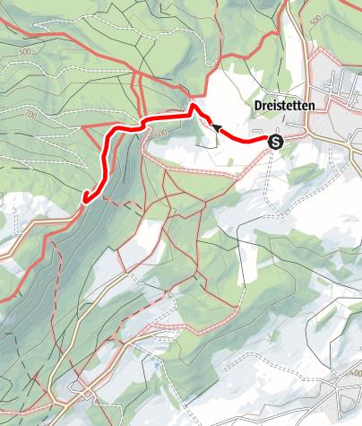 Térkép / Wanderung zum Herrgottschnitzerhaus (von Dreistetten)