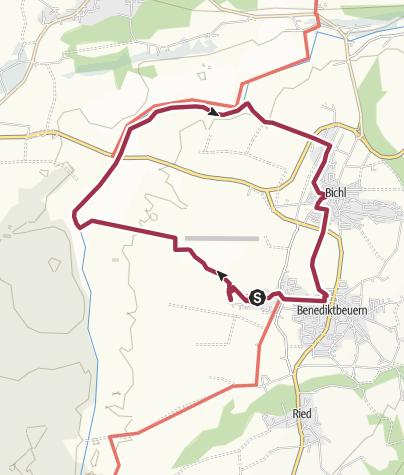 Karte / Loisachrunde von Benediktbeuern nach Bichl