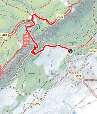 Térkép / Wanderung zum Kohlröserlhaus (von Stollhof)