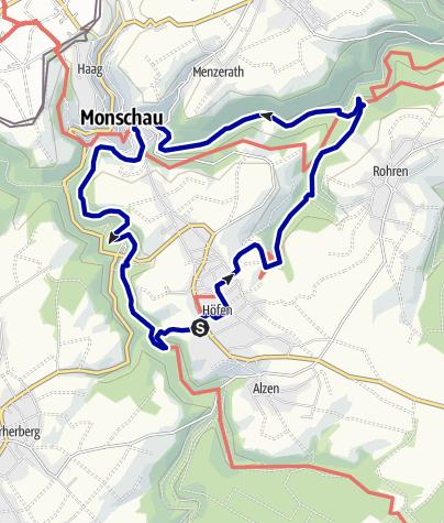 Karte / Auf und Ab im Heckenland bei Höfen