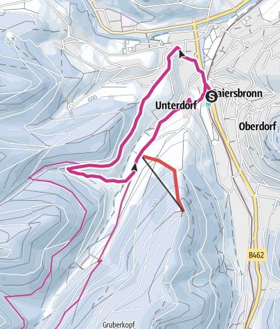 Karte / Baiersbronner Winterrunde