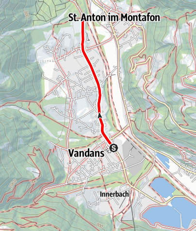 Karte / Barrierefrei: Zum Venser Bild – Der Vandanser Wallfahrtsweg