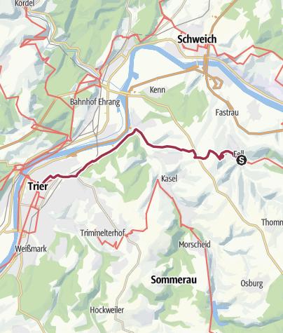 Karte / Ausoniusweg 06. Etappe: Fell - Trier