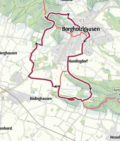 Karte / Erlebnis.Kreis.GT:  Wanderung zur Burg Ravensberg und zum Luisenturm Borgholzhausen