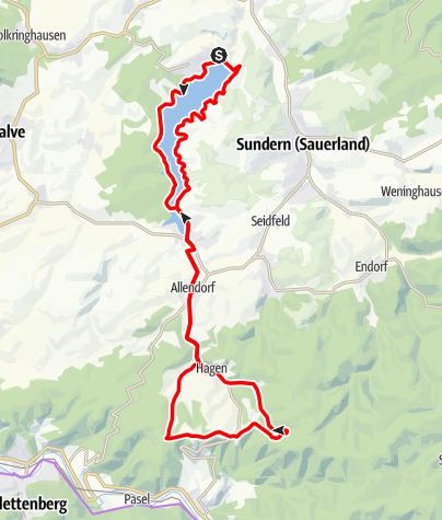Karte / Sorpesee und Wildewiese